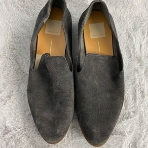 Dolce Vita Charcoal Suede Slip On Loafers 7.5
